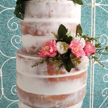 BOLO FAKE NAKED CAKE (BOLO PELADO) PARA CASAMENTO (VENDA)