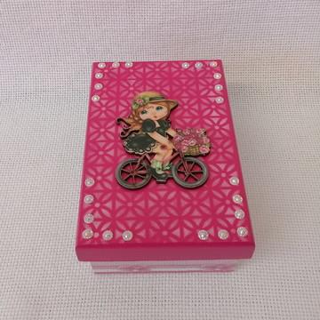 Caixa Menina na Bicicleta