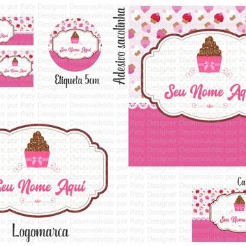 Identidade Visual tema Doce / Cupcake