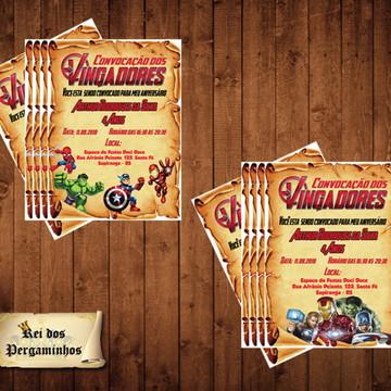 Convite Pergaminho Vungadores - Digital