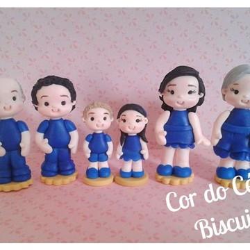 Kit bonecos para Constelação Familiar Biscuit
