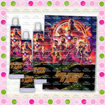Rótulo para Bisnaga 30 gr Vingadores Guerra Infinita
