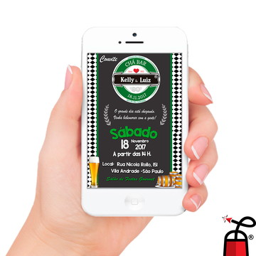 Convite Digital Heineken - Chá Bar