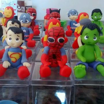 caixinhas acrilicas super herois