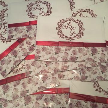 Convite de Casamento Marsala Floral