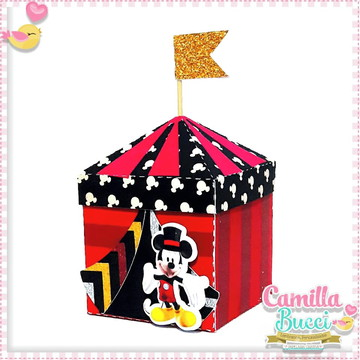 Caixa Tenda Circo Mickey