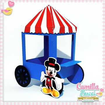Carrinho De Pipoca Circo Mickey