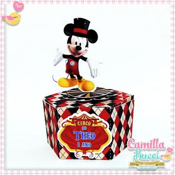 Caixa Sextavada Circo Mickey