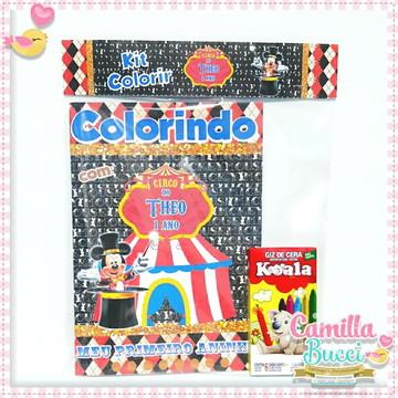 Kit Colorir Circo Mickey