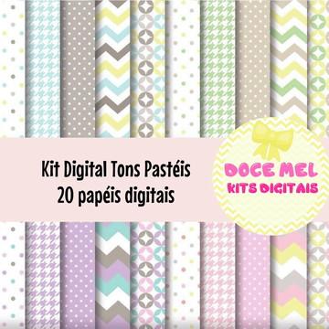 Kit Digital Tons Pastéis