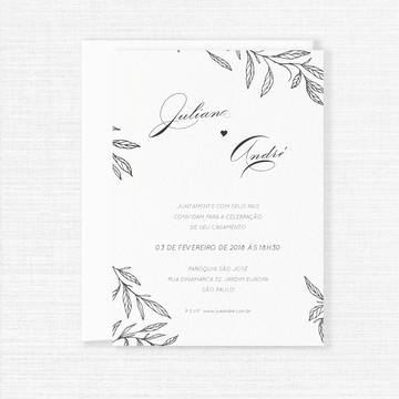 Convite Minimalista - Arte para impressão