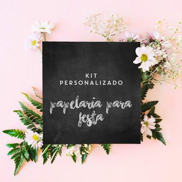 Kit Papelaria para Festa Personalizado - Digital