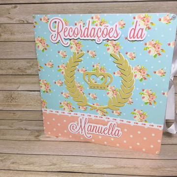 Recordações do bebê DUO + Álbum Dental - Floral com coroa