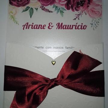 Convite de casamento simples e elegante