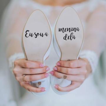 Adesivo para sola de sapato - Sou a Menina Dela