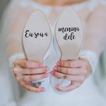 Adesivo para sola de sapato - Sou a Menina Dele