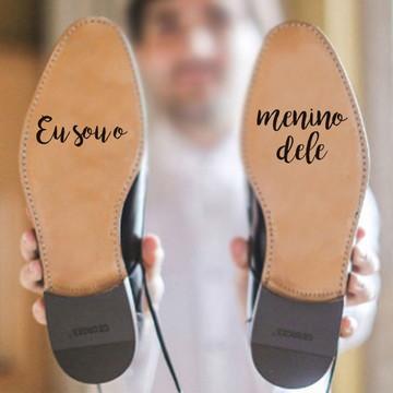 Adesivo para sola de sapato - Sou o Menino Dele