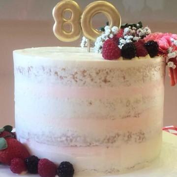 Bolo | Semi Naked Cake | Frutas | Flores Naturais