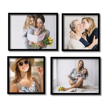 Fotografia Quadros Suas Fotos Personalizado + Moldura Kit4