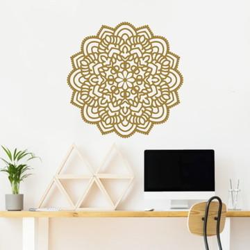 Adesivo Mandala dourado MD01