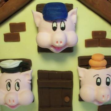 Casa Tres Porquinhos Decoração de Mesa
