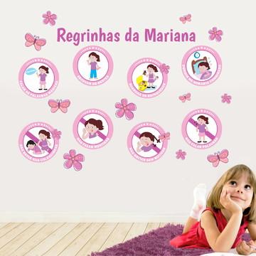 Kit com Adesivos de Regras Infantil