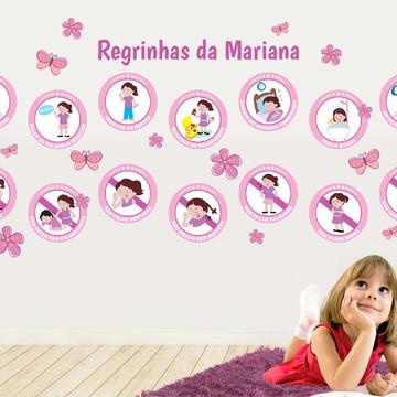 Kit de Adesivos de Regras para Menina - Educação Infantil
