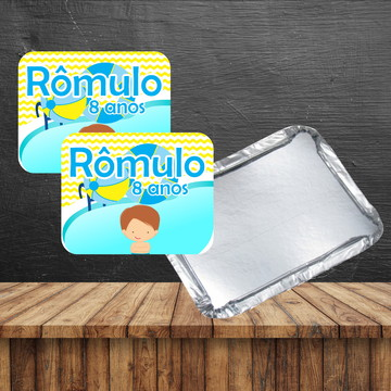 Rotulo para marmita pool party