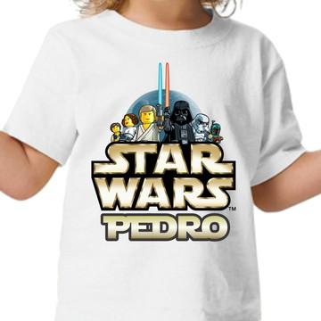 Camisa personalizada - Star wars lego com nome