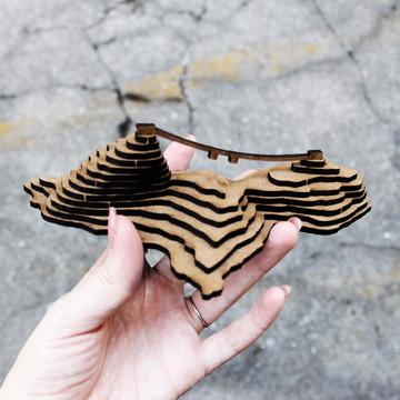 Miniatura para montar - MDF - Pão de Açúcar - Rio de Janeiro