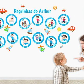12 Regras Adesivas Para Menino / Educação Infantil