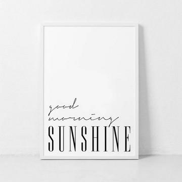 POSTER GOOD MORNING SUNSHINE PARA IMPRIMIR
