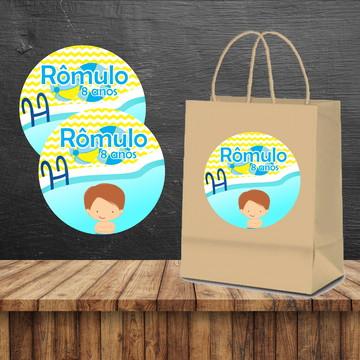 Rotulo sacola Pool party