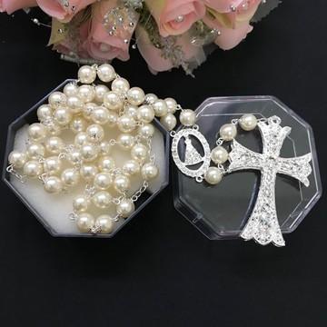 Terço de Noiva crucifixo duplo