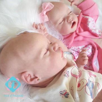 Gêmeas Bebê Reborn Twin A e Twin B Lindas baratas