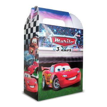 Caixinha Surpresa Personalizada - Carros Disney