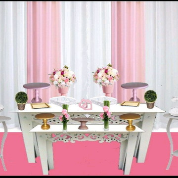 Decoração para casamento - mesa do bolo