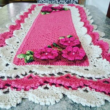 caminho de mesa em croche