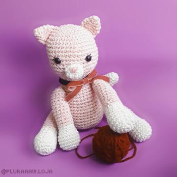 Gatinha Marie amigurumi boneco de crochê decoração