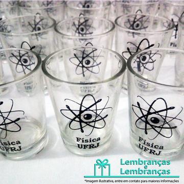 Lembrancinhas brindes para Formatura Copinho de vidro Shot