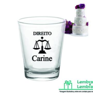 Lembrancinha brindes para Formatura Copinho de vidro Dose