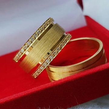 Par de Aliança 10mm Prata Banhada ouro