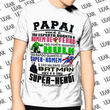 Camiseta Pai Herói