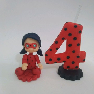 Vela Lady Bug Miraculous Biscuit