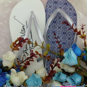 Chinelo casamento azulejos portugueses