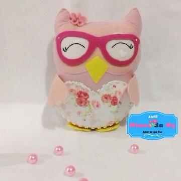 Coruja - Decoração -Coruja de óculos - Enfeite