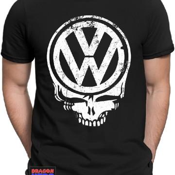 1c2b7cfb5784f Camiseta Preta VW Caveira