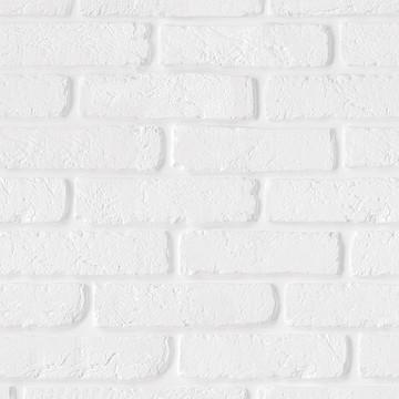 Papel de Parede RústicoTijolo Tijolinho Branco 3m PPT037