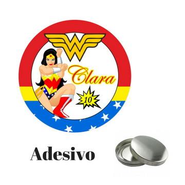 Adesivo para Latinha da Mulher Maravilha