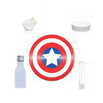 Adesivo para lembrancinha do Capitão America